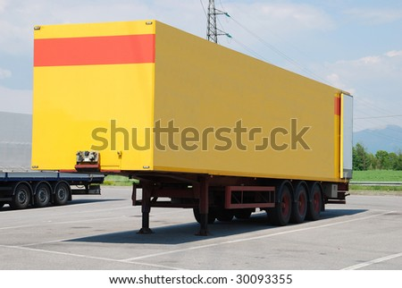 Truck transportation industries cargo and shipping - stock photo