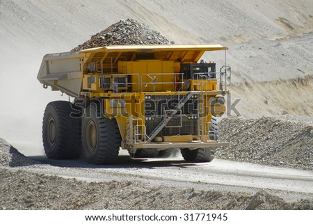 truck transporting copper ore