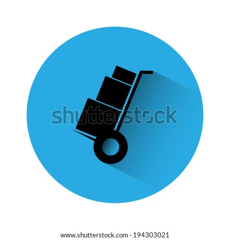 Truck with boxes silhouette - stock photo