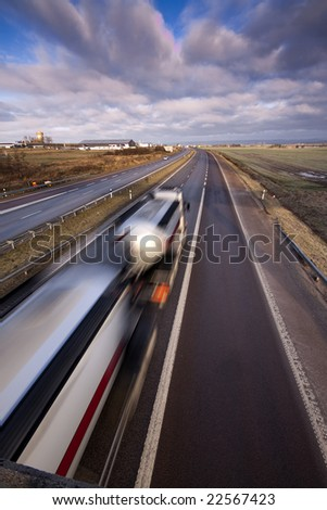Truck with chemicals - stock photo