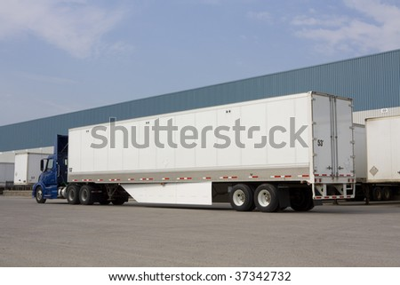 Truck with environmental flap - stock photo