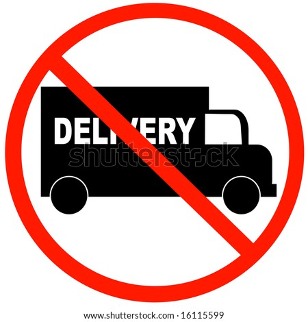 truck with no delivery available symbol - illustration - stock photo