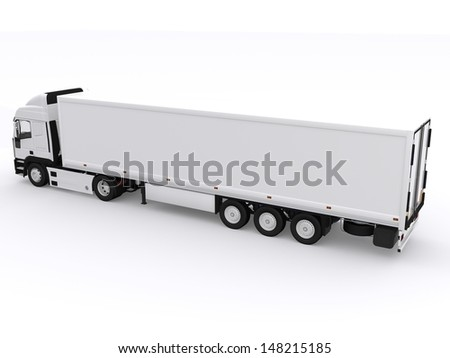 Truck with trailer - stock photo