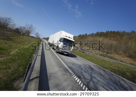 truckin in the countryside - stock photo