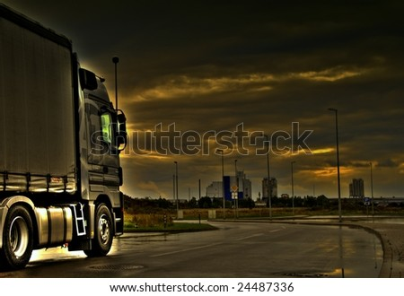 Trucking in storm