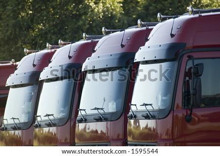 trucks - stock photo
