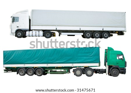 Dump Truck Isolated On White Background Stock Vector 194498060 ...