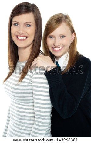 True bonding between mother and daughter - stock photo