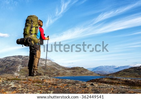 True Hiker  - stock photo