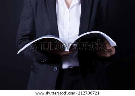 True knowledge can be gained by written words from and open book. - stock photo