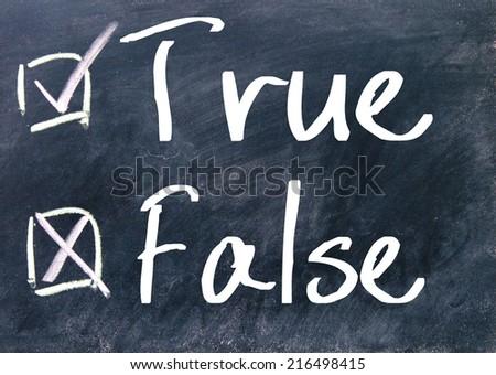 true or false Judge - stock photo