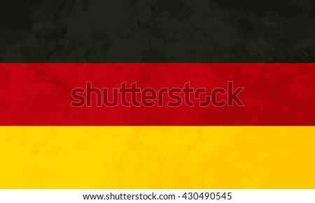 True proportions Germany flag with grunge texture