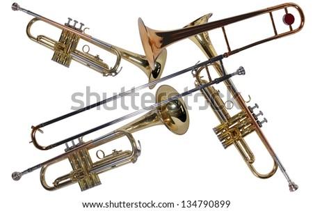 Trumpets - stock photo