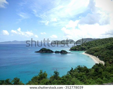 Trunk Bay, St. John, U.S. Virgin Islands (Virgin Islands National Park) - stock photo