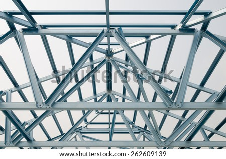 Truss roof for construction