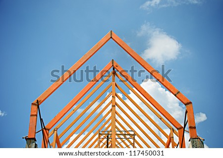 Truss structure - stock photo