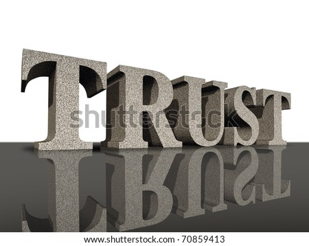 Trust honor financial business symbol integrity dependable rock solid - stock photo