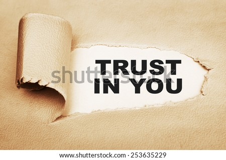 Trust in You - stock photo