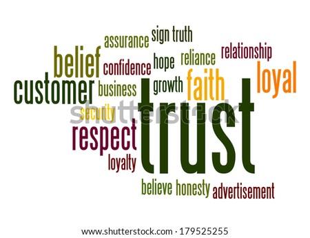 Trust word cloud - stock photo