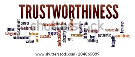 Trustworthiness in word collage - stock photo