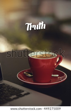 Truth. - stock photo