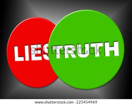 Truth Sign Representing No Lie And Sincerity - stock photo