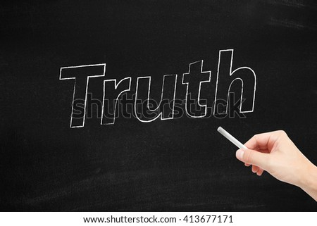 Truth written on a blackboard - stock photo