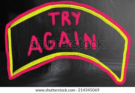try again concept - stock photo