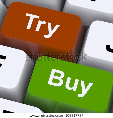 Try Buy Keys Showing Shopping Online
