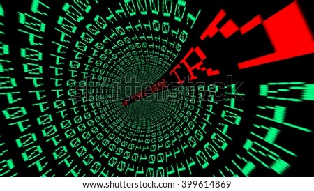 Try now data tunnel - stock photo