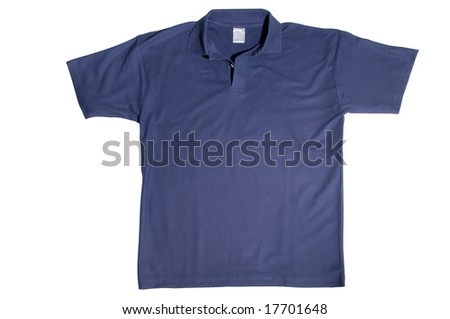 tshirt isolated on white background - stock photo