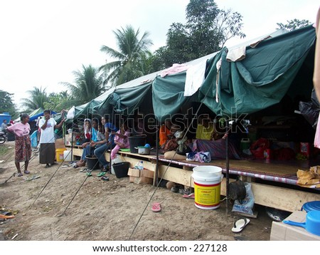Tsunami refugees camp