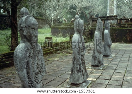 Tu Duc Statues - Hue, Vietnam - stock photo