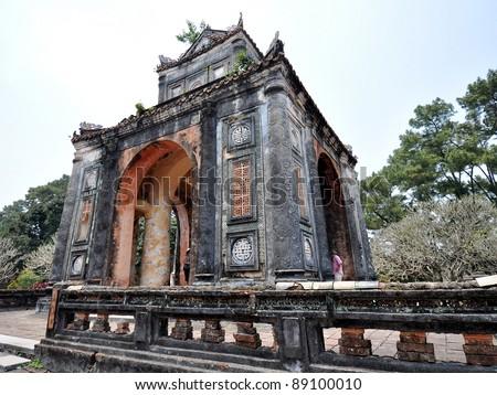 Tu Duc Tomb - Hue, Vietnam - stock photo