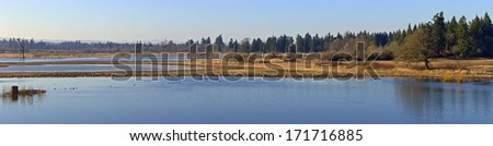 Tualatin national wildlife refuge panorama Oregon.