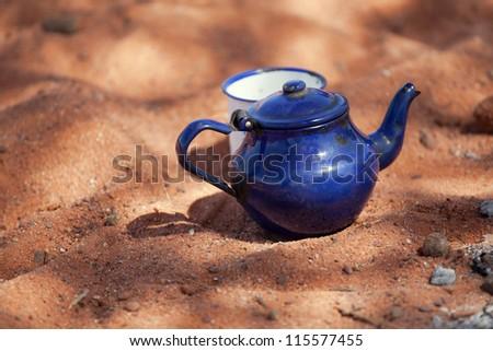 Tuareg tea - stock photo