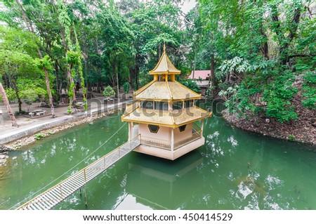 Tub Tao Cave Chiangmai Thailand , Wat Thai , Thai Temple - stock photo