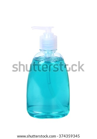 Tube bottle of shampoo, conditioner, hair rinse, gel, soap isolated on a white  background. - stock photo