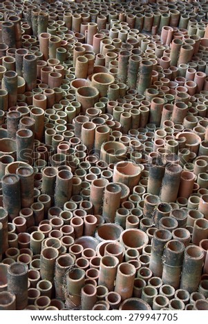 Tube ceramic with for background - stock photo