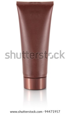 tube for cosmetic cream isolated on white background - stock photo