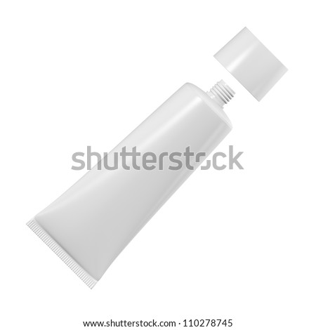 Tube for cream or toothpaste or glue on a white background - stock photo