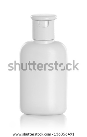 Tube Of Cream Or Gel plastic product. isolated over white background - stock photo