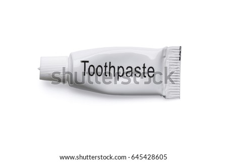 Tube of toothpaste isolated on white background