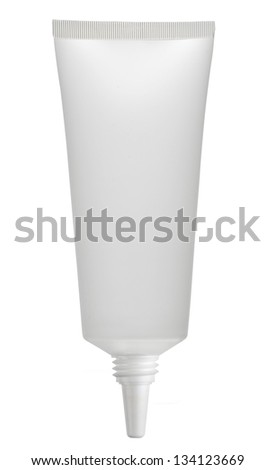 tube of toothpaste isolated on white, without cap