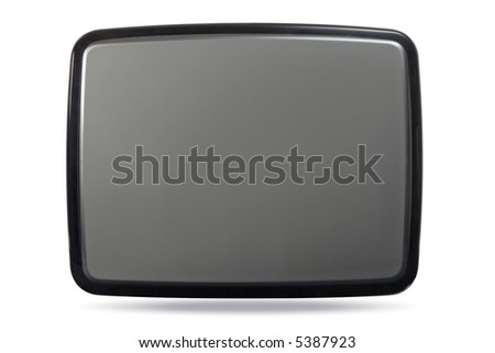 Tube of traditional television monitor crt - stock photo