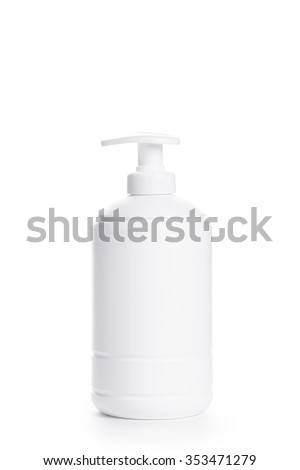 Tube on white background, closeup