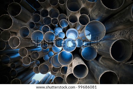 Tubes abstract background - stock photo