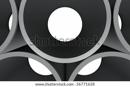 Tubes Detail - stock photo