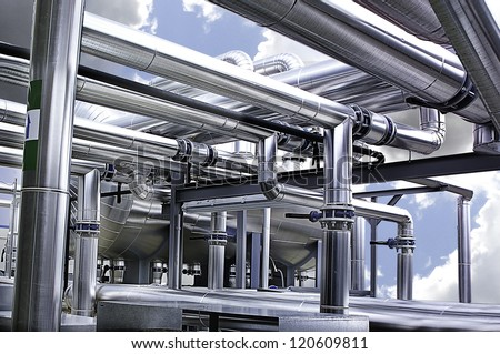 tubes machine - stock photo