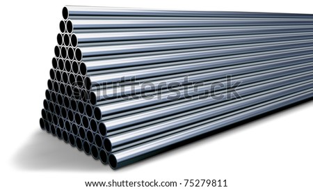 tubes made of rare earth alloys for high-tech production of drugs in shape of a pyramid folded at stock - stock photo